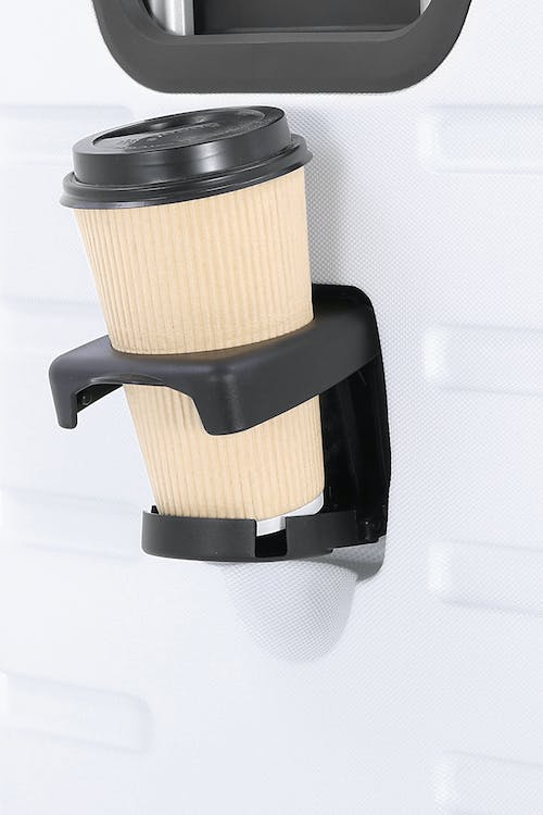 "Swissgear 7366 18"" Expandable Hardside White Luggage - cup holder only"