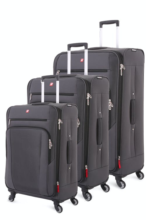 Swissgear 7621 Expandable 3pc Spinner Luggage Set - Slate Cement