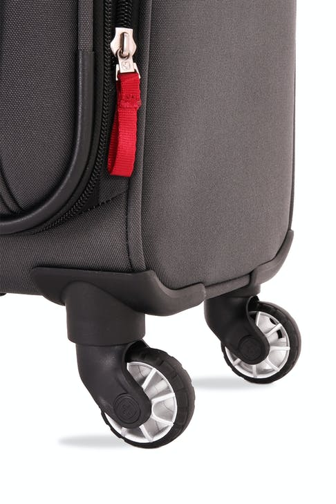 SWISSGEAR 7621 Expandable Spinner Luggage Four 360-degree, multi-directional spinner wheels