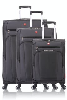 Swissgear 7621 Expandable Spinner Luggage 3pc Set - Slate Cement