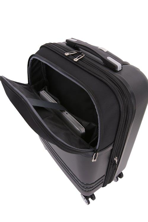 "SWISSGEAR 7635 19"" Expandable Hybrid Business Spinner Padded internal laptop sleeve"