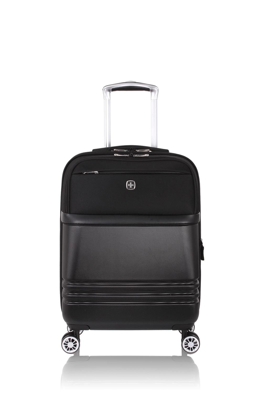 """SWISSGEAR 7635 19"""" Expandable Hybrid Business Spinner - Black"""