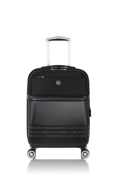 "Swissgear 7635 18"" Expandable Hybrid Business Spinner Luggage - Black"