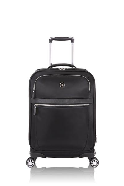 "Swissgear 7636 Geneva 20"" Expandable Liteweight Luggage - Black"