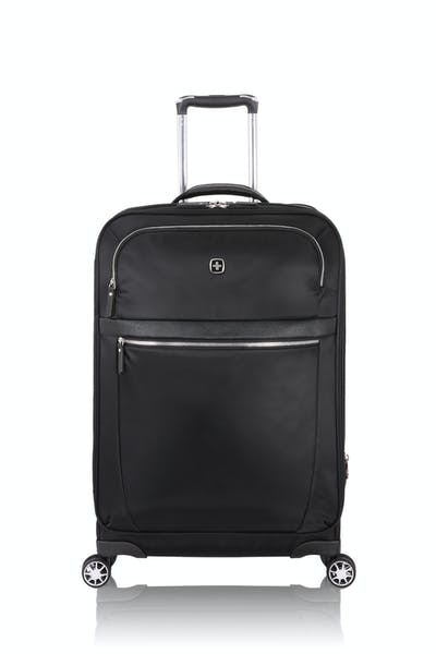 "Swissgear 7636 Geneva 24"" Expandable Liteweight Luggage - Black"