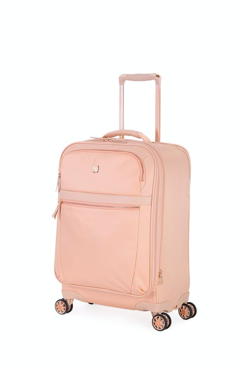 c3b03022217c Swissgear 7636 20 Geneva Expandable Carry On Luggage - Peach