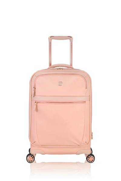 "Swissgear 7636 Geneva 20"" Expandable Liteweight Luggage - Peach"