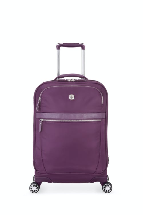 8a7121e80366 Swissgear 7636 20 Geneva Expandable Carry On Spinner Luggage - Purple