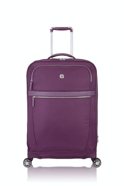 "Swissgear 7636 Geneva 24"" Expandable Liteweight Luggage - Purple"