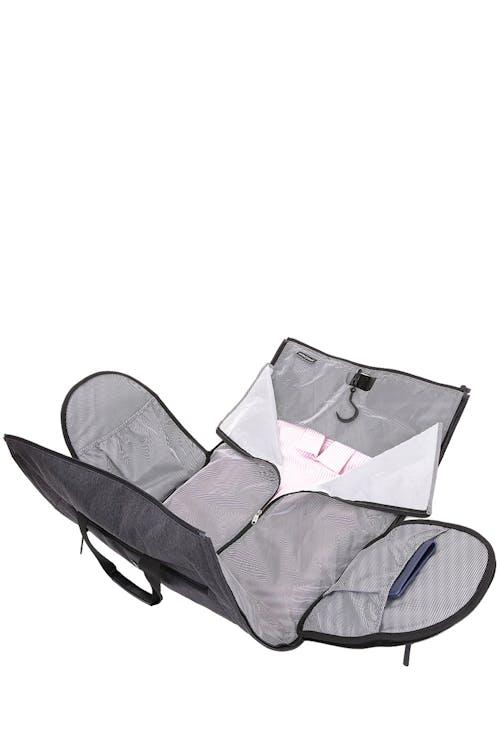"Swissgear 7638 Getaway 21"" Duffle Garment bag functionality with a built-in hanging hook"