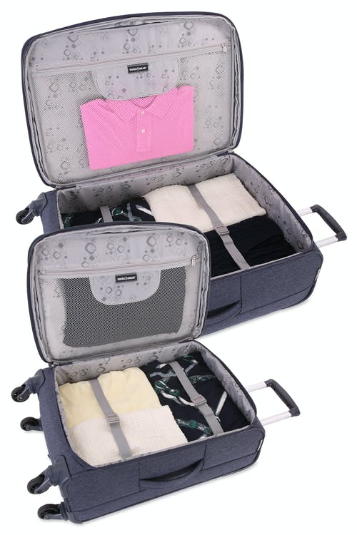SWISSGEAR 7660 Expandable Liteweight Spinner Luggage Expands for additional interior space