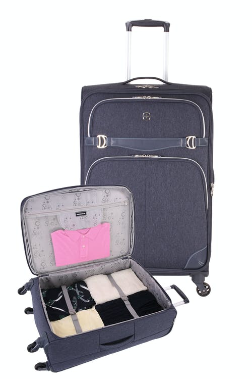 SWISSGEAR 7660 Expandable Liteweight Spinner Luggage 2pc Set - Open View
