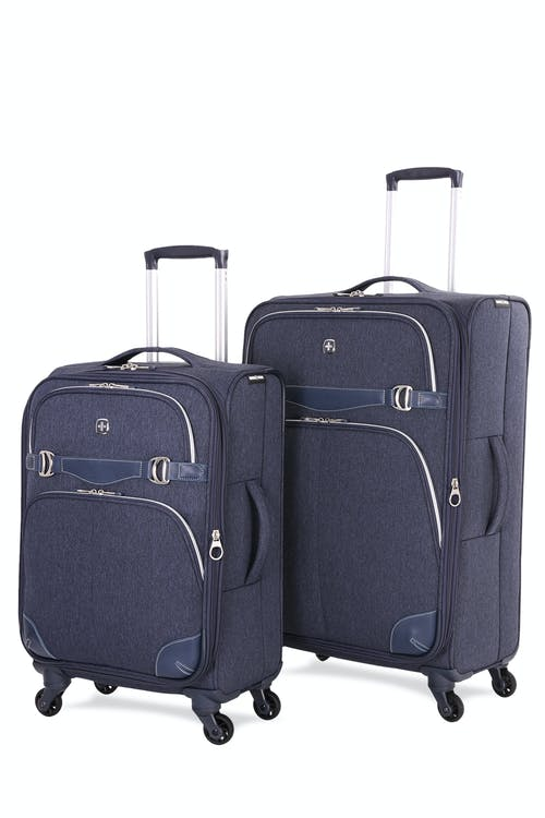 Swissgear 7660 Expandable Liteweight Spinner Luggage 2pc Set - Navy