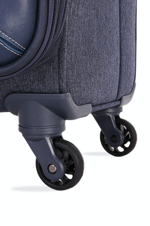 SWISSGEAR 7660 Expandable Liteweight Spinner Luggage Four 360-degree, multi-directional spinner wheels