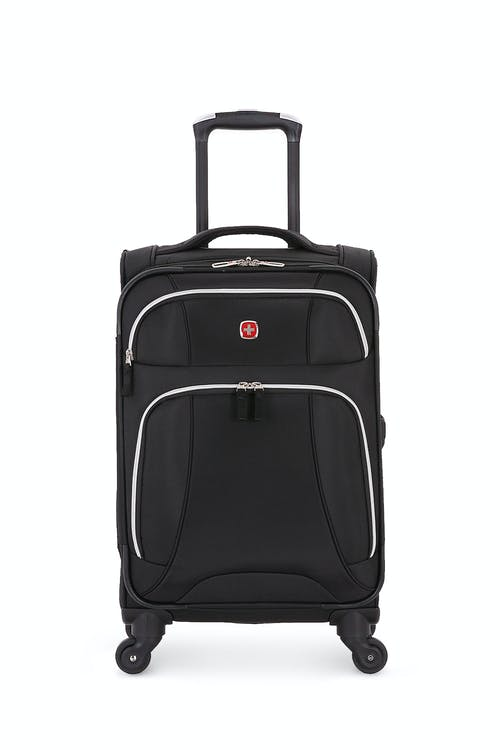 "SWISSGEAR 7676 20"" Expandable Spinner Luggage two front panel pockets"