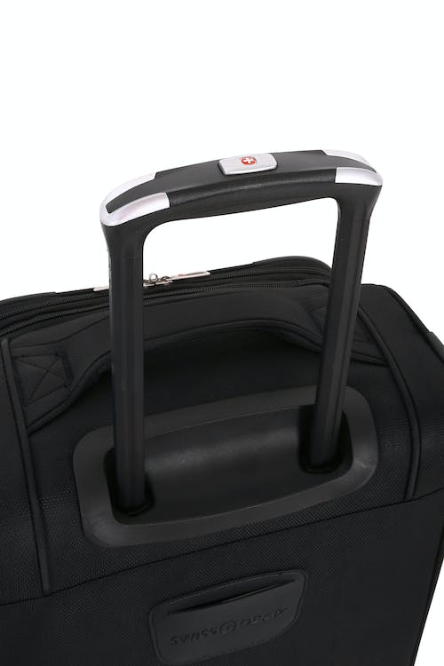 "SWISSGEAR 7676 20"" Expandable Spinner Luggage Aircraft grade aluminum, push button locking telescopic handle"
