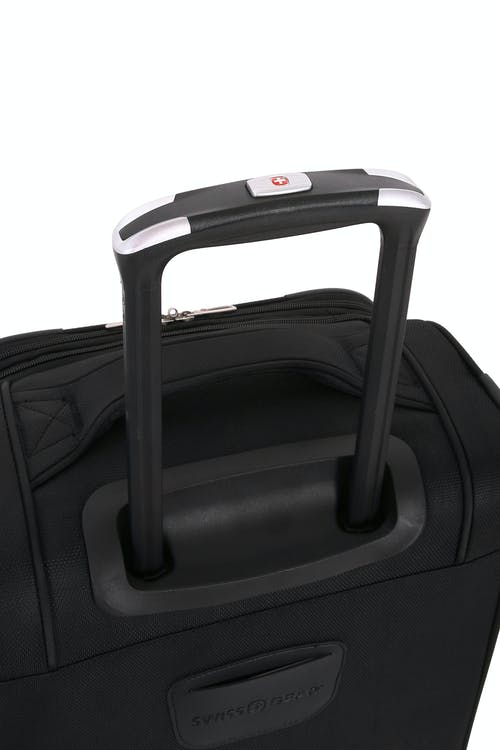 "SWISSGEAR 7676 24.5"" Expandable Spinner Luggage Aircraft grade aluminum, push button locking telescopic handle"