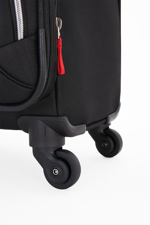 "SWISSGEAR 7676 20"" Expandable Spinner Luggage Four 360 degree, multi-directional liteweight spinner wheels"
