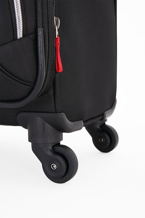 "SWISSGEAR 7676 24.5"" Expandable Spinner Luggage Four 360 degree, multi-directional liteweight spinner wheels"