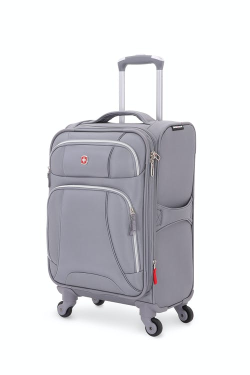 "SWISSGEAR 7676 20"" Expandable Spinner Luggage in Charcoal/Silver"