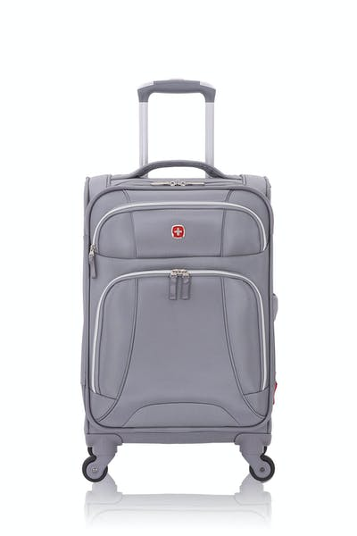 """Swissgear 7676 19"""" Expandable Liteweight Spinner Luggage - Charcoal/Silver"""