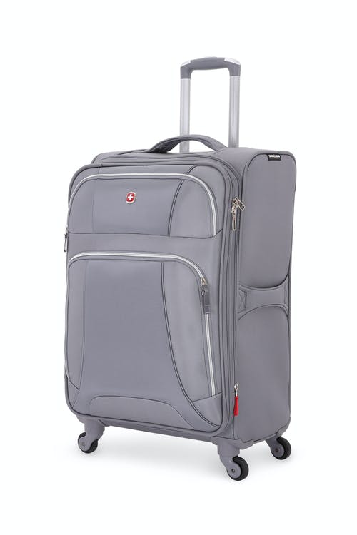"SWISSGEAR 7676 24.5"" Expandable Spinner Luggage in Charcoal/Silver"