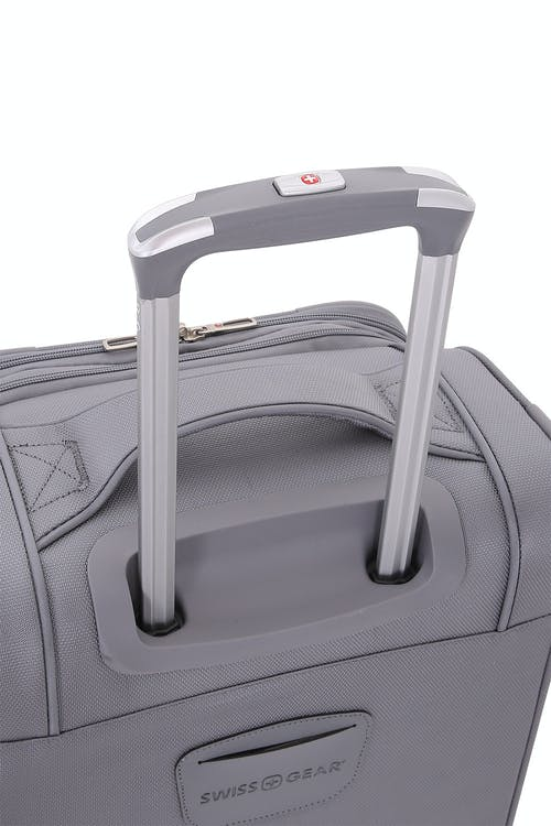 SWISSGEAR 7676 Expandable Spinner Luggage Aircraft grade aluminum, push button locking telescopic handle