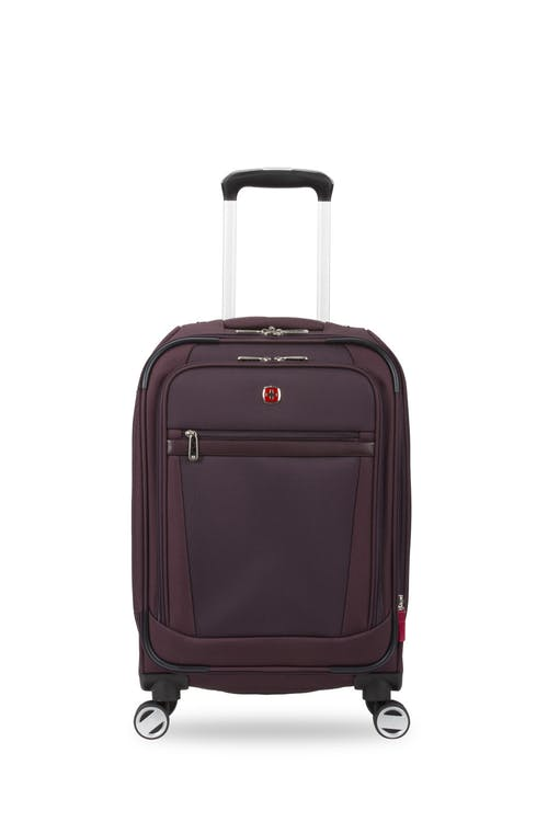 "Swissgear 7760 19"" Expandable Carry On Spinner Luggage- Purple"