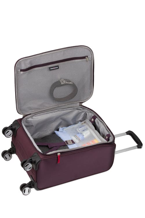 "Swissgear 7760 19"" Expandable Carry On Spinner Luggage Second additional compartment"