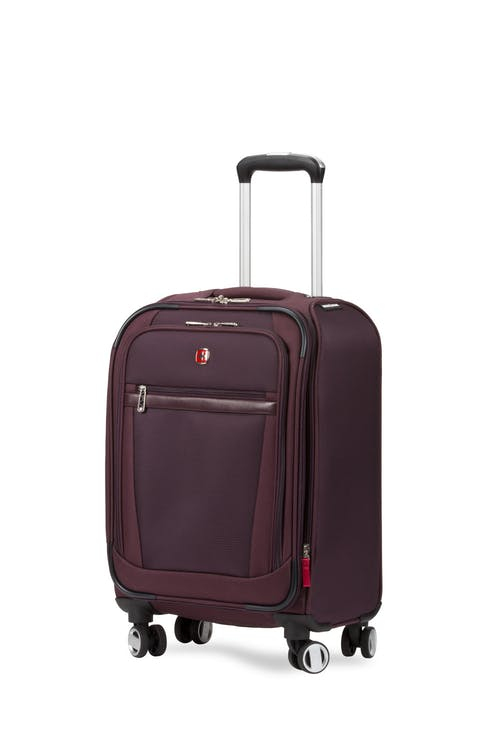 "Swissgear 7760 19"" Expandable Carry On Spinner Luggage - Purple"
