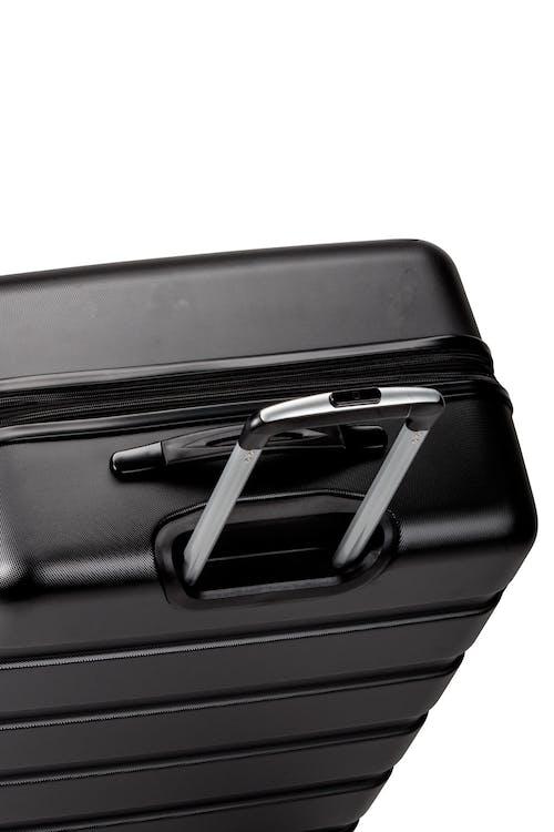 Swissgear 7366 Expandable Hardside Luggage push-button aluminum locking telescopic handle
