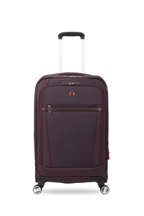 "Swissgear 7760 24"" Expandable Spinner Luggage- Purple"