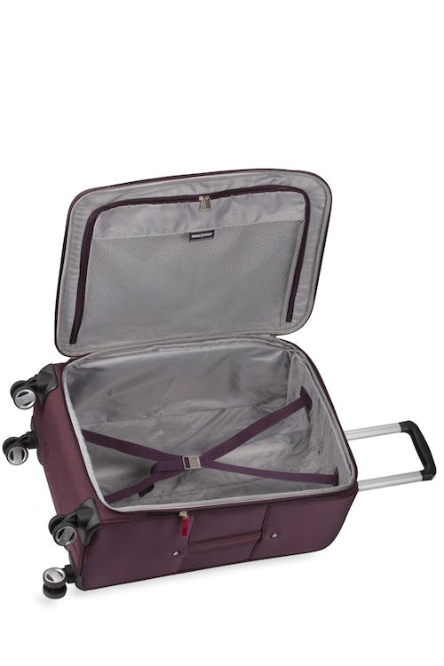 "Swissgear 7760 24"" Expandable Spinner Luggage Second additional compartment"