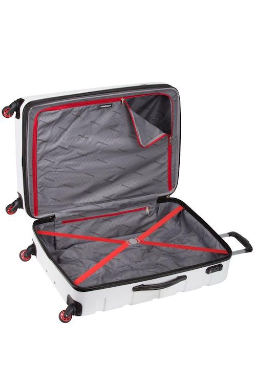 "SWISSGEAR 7366 23"" Expandable Hardside Luggage - Elastic tie-down clothing straps"