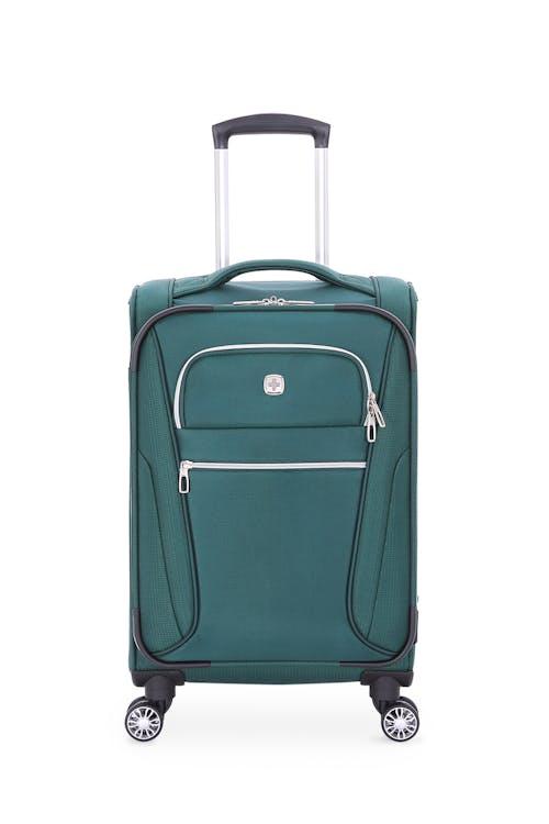 swissgear 7850 checklite 20 inch expandable liteweight pilot case june bug green