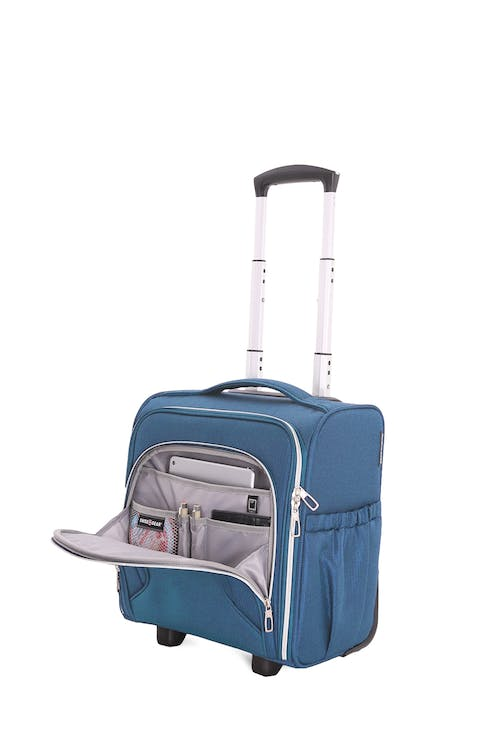 Swissgear 7850 Checklite Liteweight Underseat Luggage mini, front zippered compartments