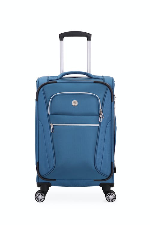 """Swissgear 7850 Checklite 20"""" Pilot Case Two front panel pockets with silver tone zippers"""