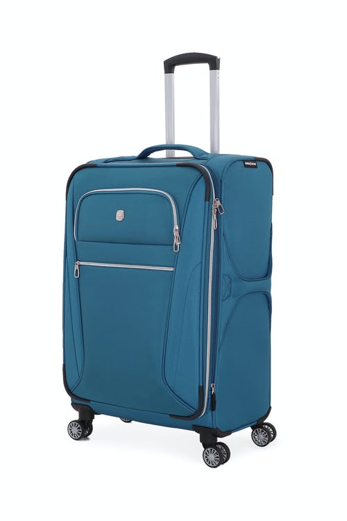 "Swissgear 7850 Checklite 24.5"" Expandable Liteweight Upright Luggage - Atlantic Blue"