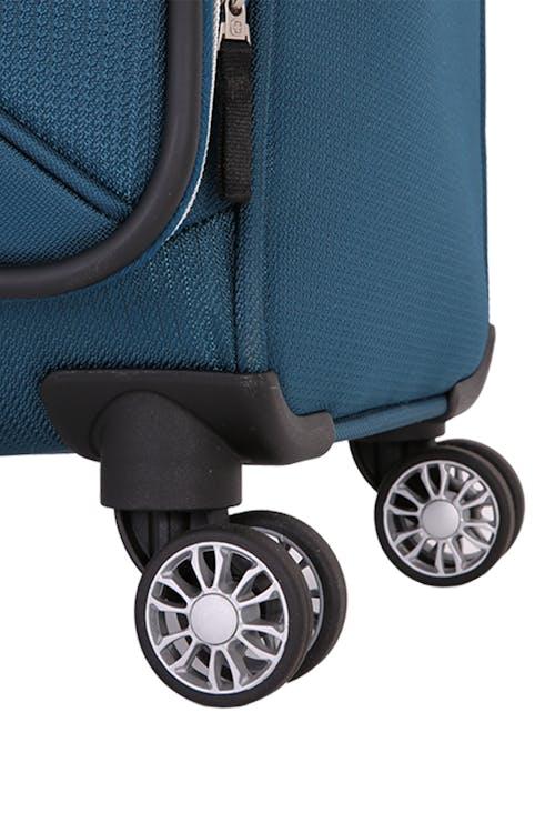 "Swissgear 7850 Checklite 20"" Pilot Case Eight 360 degree, multi-directional spinner wheels"