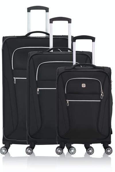 Swissgear 7850 Checklite Expandable Liteweight Luggage 3PC Set - Black