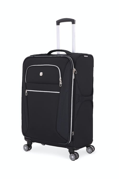 "Swissgear 7850 Checklite 24.5"" Expandable Liteweight Upright Luggage - Black"