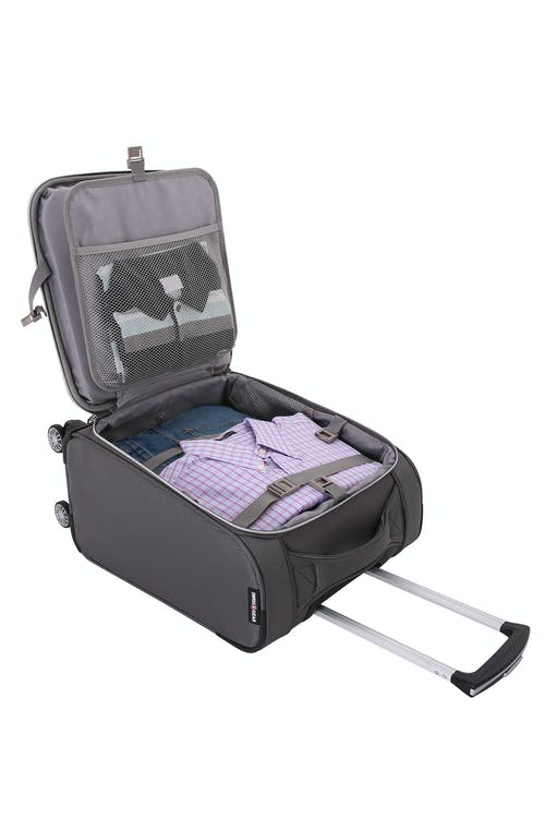 "Swissgear 7850 Checklite 17"" Liteweight Business Companion Adjustable clothing tie-down straps"