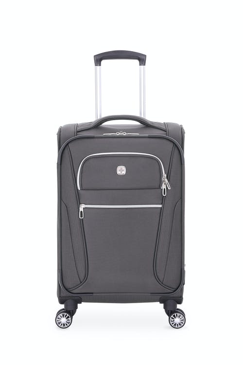 """Swissgear 7850 Checklite 20"""" Expandable Liteweight Pilot Case Luggage Two front panel pockets with silver tone zippers"""
