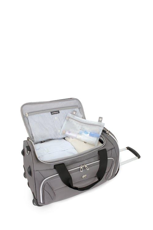 "Swissgear 7850 Checklite 22"" Wheeled Duffel Bag Removable wet bag"