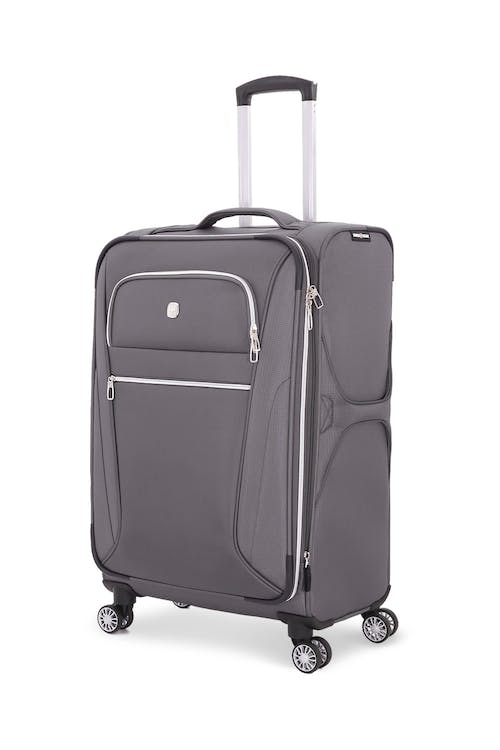 "Swissgear 7850 Checklite 24.5"" Expandable Liteweight Upright Luggage - Gray"
