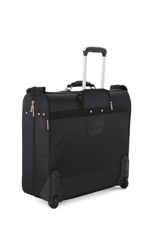Swissgear 7895 Zurich Full Sized Wheeled Garment Bag has a shoe pocket and a line of tiny pouches