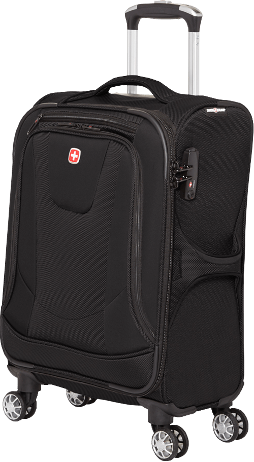 SWISSGEAR NEOLITE III COLLECTION CARRY-ON UPRIGHT LUGGAGE - BLACK
