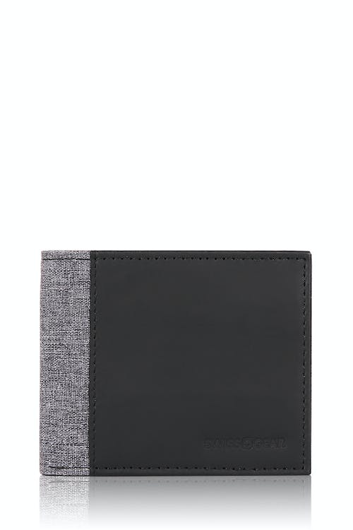 SWISSGEAR Bifold Wallet - Black/Gray Heathered