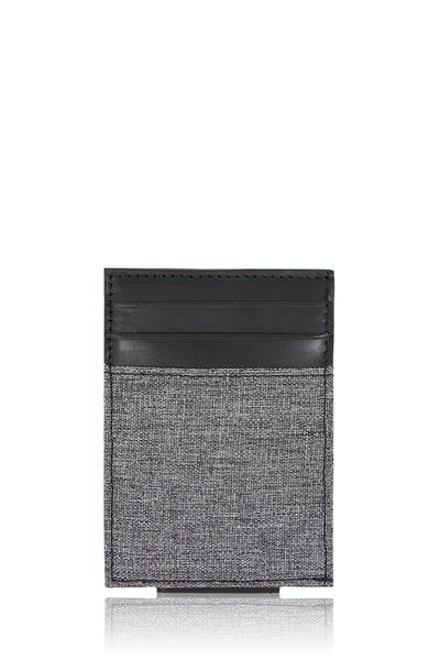 SWISSGEAR Money Clip Card Wallet - Black/Gray Heathered