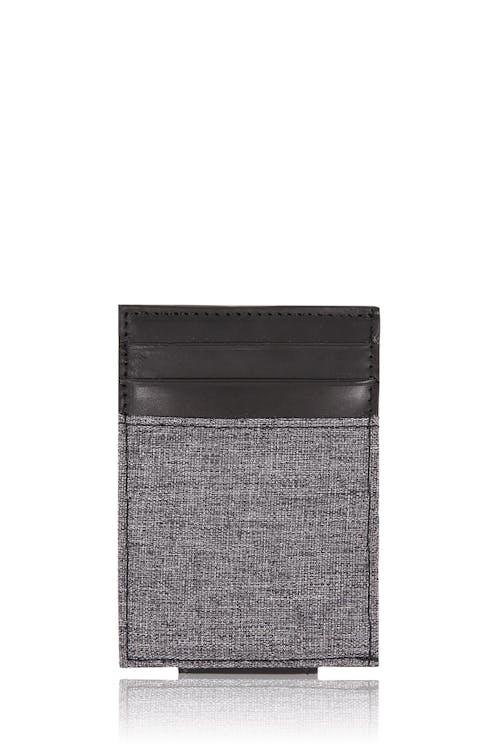 SWISSGEAR Money Clip Card Wallet - Black/Gray Heather